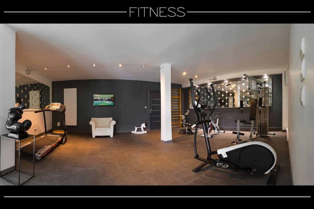 Espace bien-être : salle de fitness