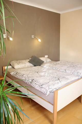 Schlafzimmer - Doppelbett,auch einzeln stellbar
