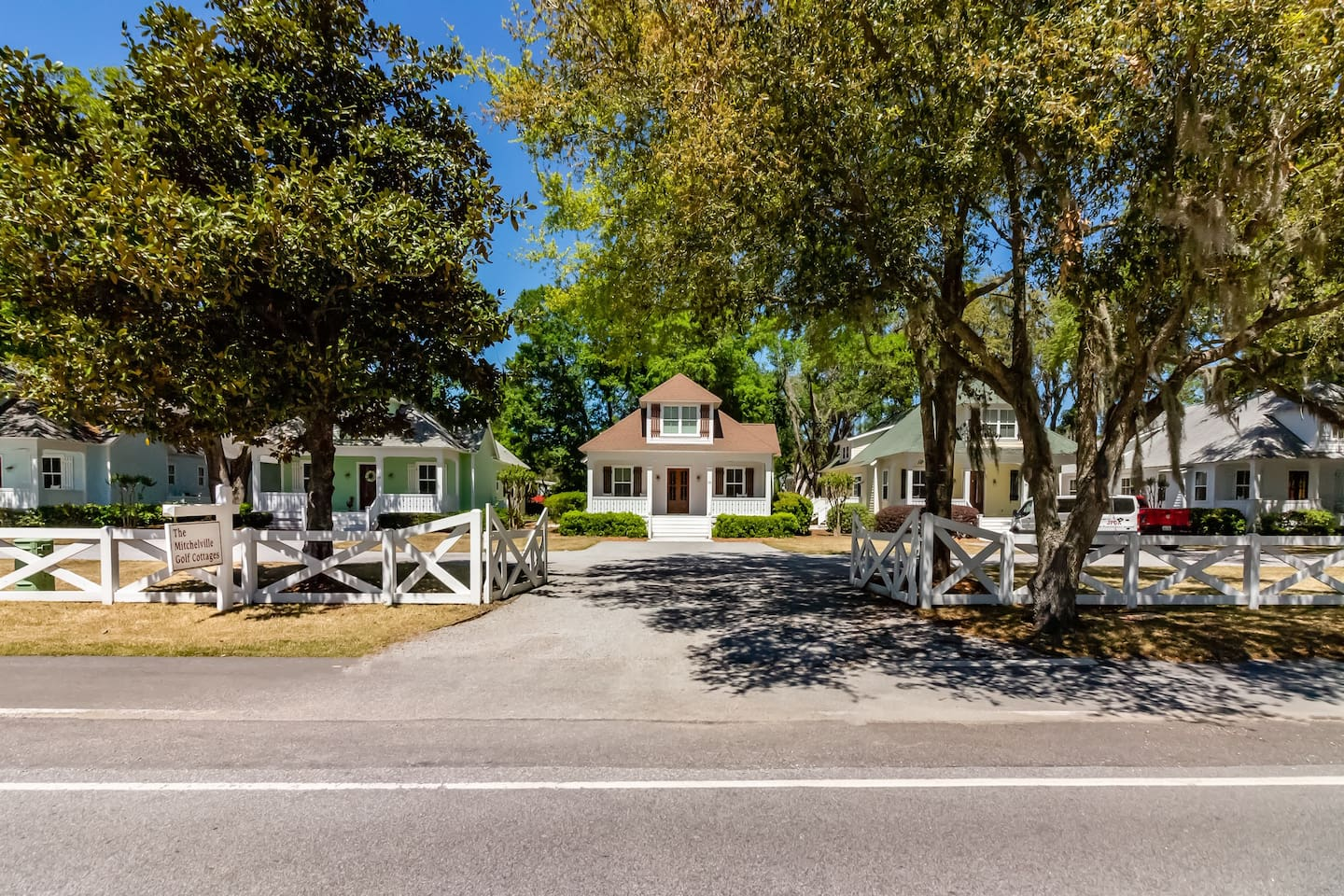 The Mitchellville Golf Cottages, 4 Bedroom, 4 1/2 bath cottages walking distance to the beach.