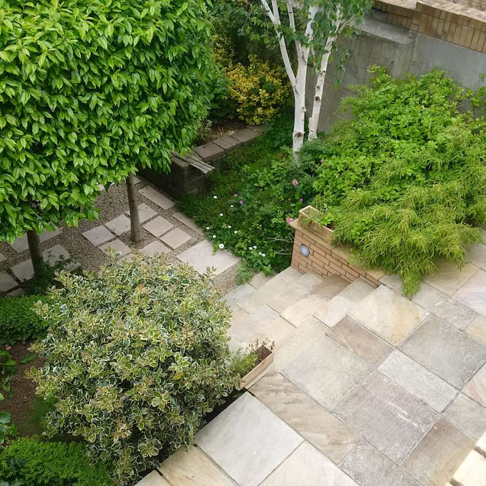 View of private Garden from bedroom