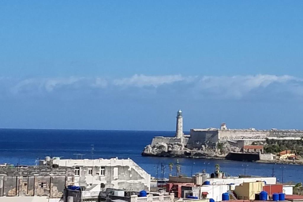 Entry of the bay of Havana. Morro Castle. Lighthouse