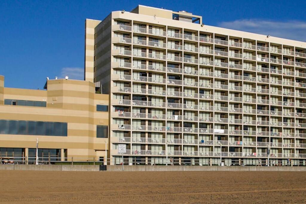 Beach side view of Beach Quarters Resort Hotel