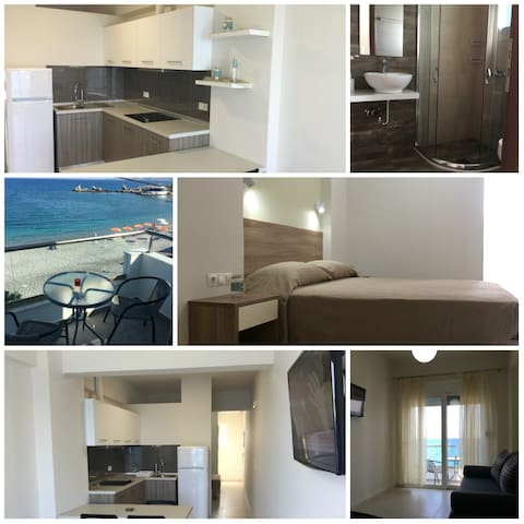 Haraki Blue Pearl apartment with sea view - Charaki - Flat