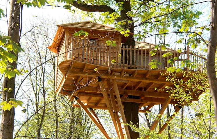 Cabane dans les Arbres Escapade - Raray - Treehouse