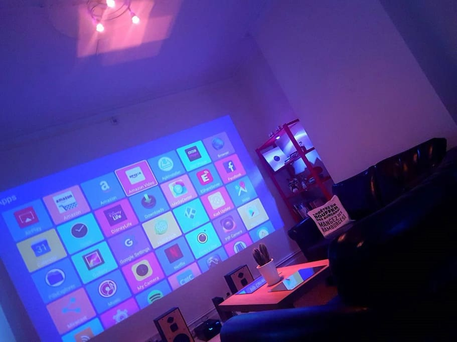 Living Room with Projector display