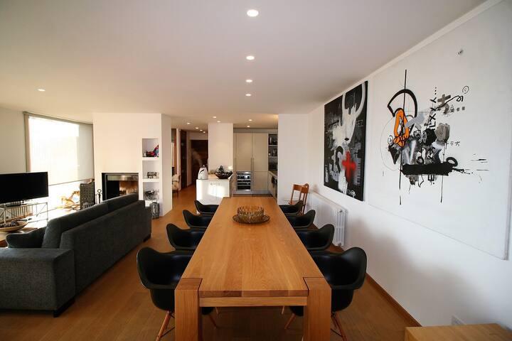 Formidable casa en Ger para 10 personas. Diseño. - Ger - Hus