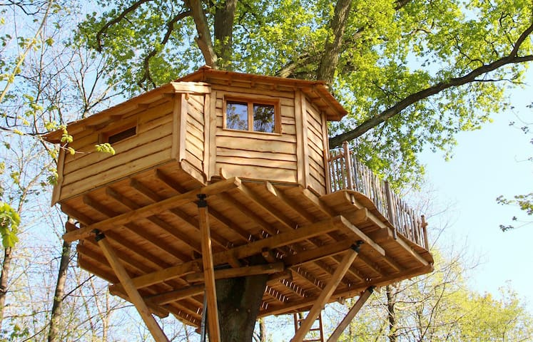 cabane dans les arbres secr te treehouses for rent in raray picardie france. Black Bedroom Furniture Sets. Home Design Ideas