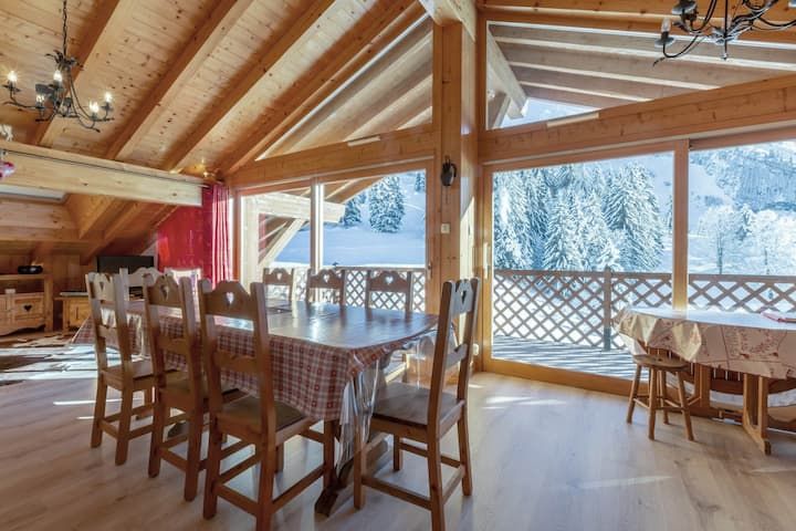 Cross-country skiing nearby, Balme mountain's view, garage, Wi-Fi