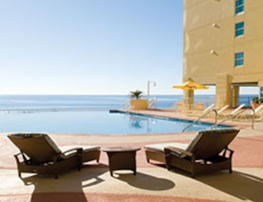 RELAX AND UNWIND HERE AT THE POOL AT WYNDHAM OCEAN BOULEVARD RESORT