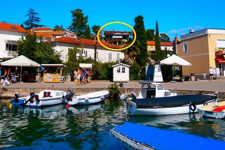 Room 100 m from sea + rich breakfast - Malinska - Bed & Breakfast