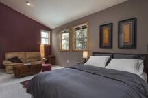 Oversized master bedroom with lounge and built in wardrobes (sleeps 2)