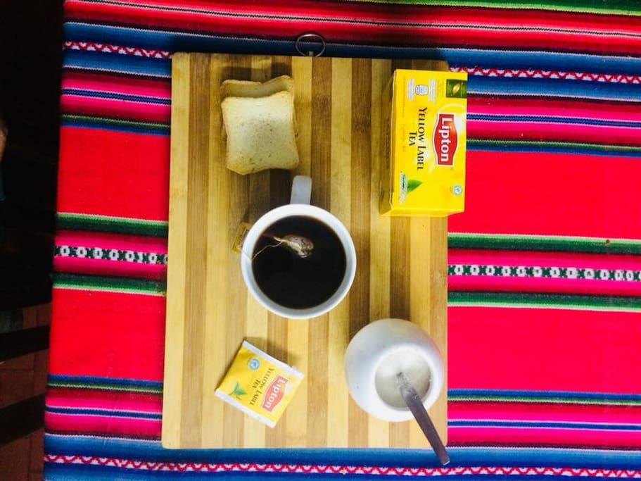 desayuno cafe, te mate