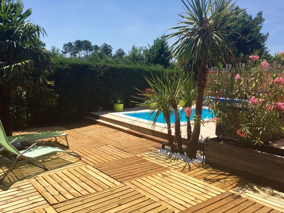Maison bassin d arcachon avec piscine chauff e maisons - Maison bassin d arcachon location nice ...