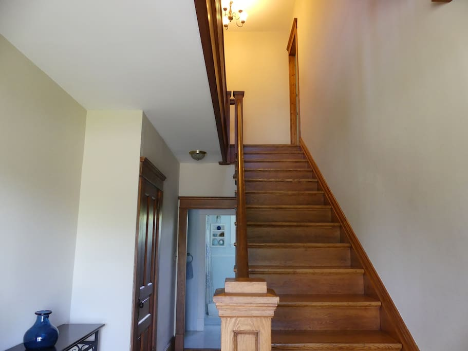 Stairs to Sunset View Guest Room