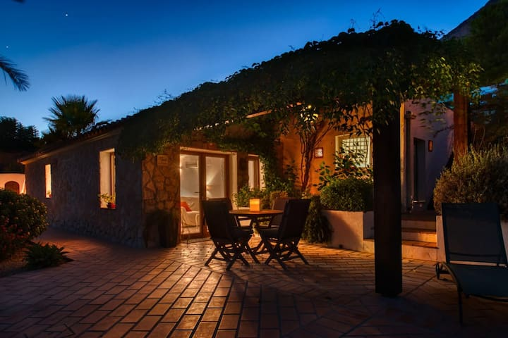 Romantic night view of the Casita