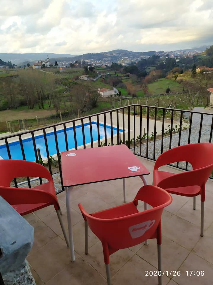 House with 2 bedrooms in Fornos, with wonderful mountain view, shared pool, furnished terrace