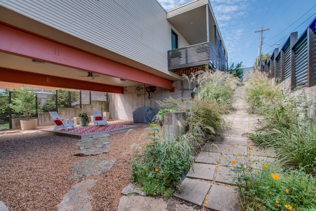 Our home offers natural beauty with landscapes walkways and a quaint patio.