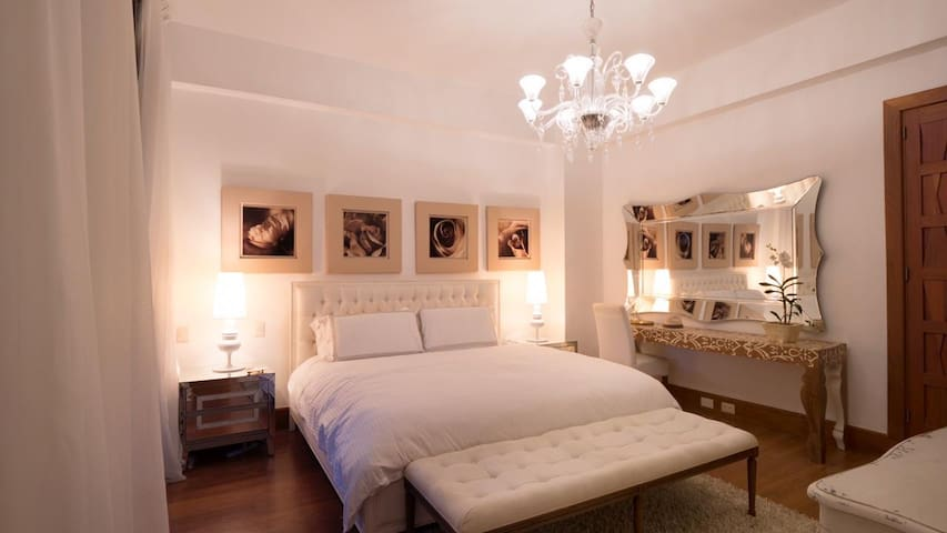 Main bedroom with comfortable King size bed