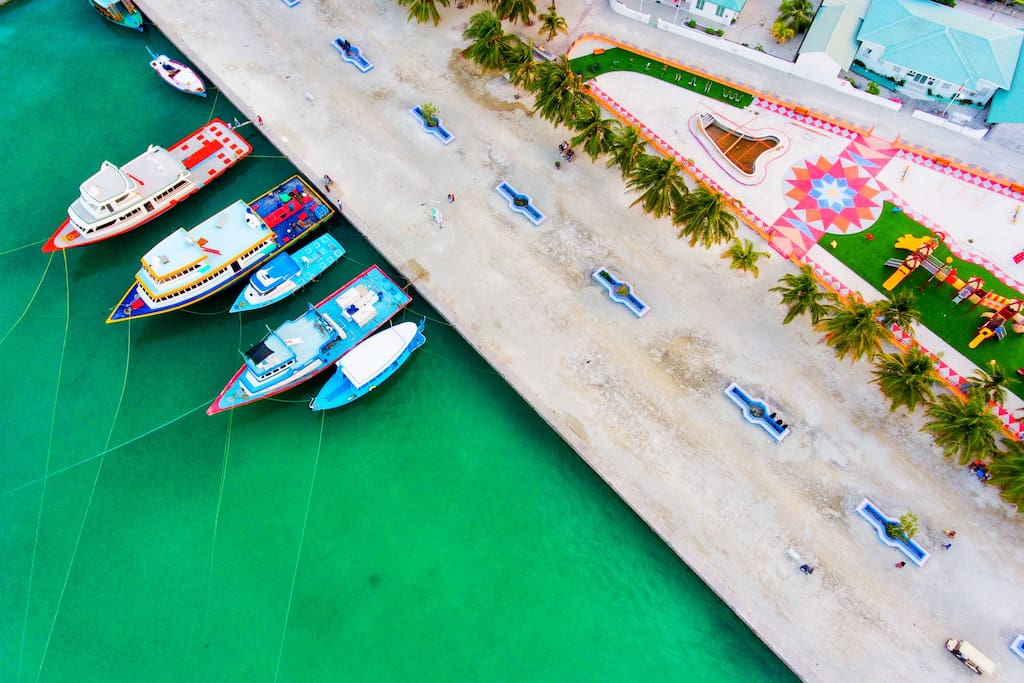 Mathiveri Harbor Ariel View