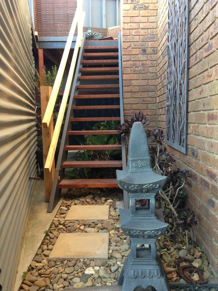 Entrance to the studio/deck