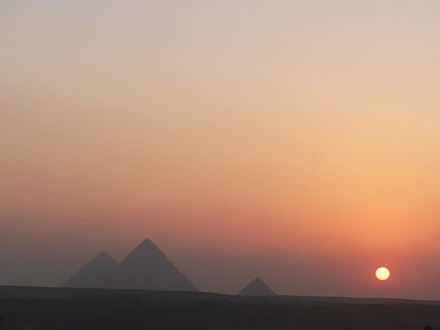 Pyramids view for families+ Tour services & AC Van