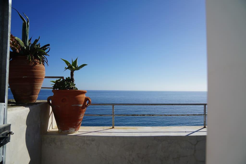 Terrasse / vue côté mer