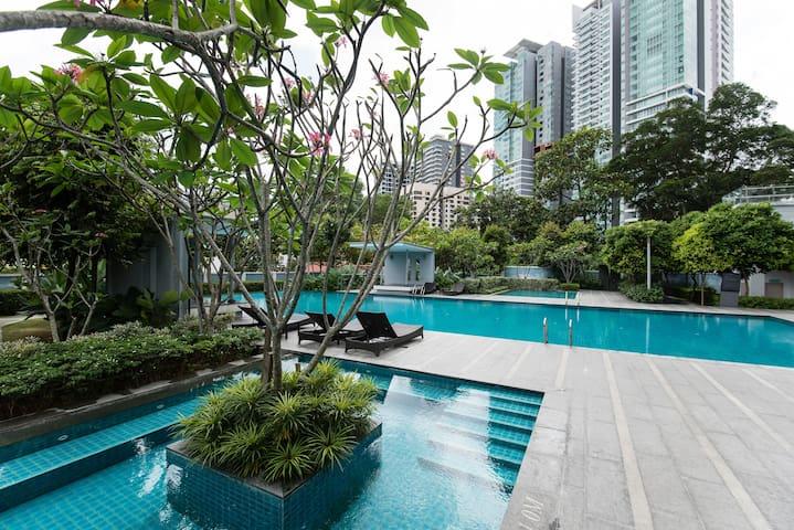 (28) Kuala Lumpur Centre/ 3BR Apt at Bukit Bintang - Kuala Lumpur - Apartment