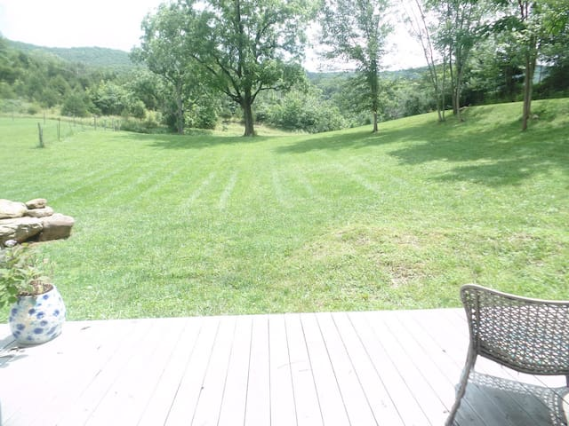 View from side deck onto property. Ideal for al fresco dining.