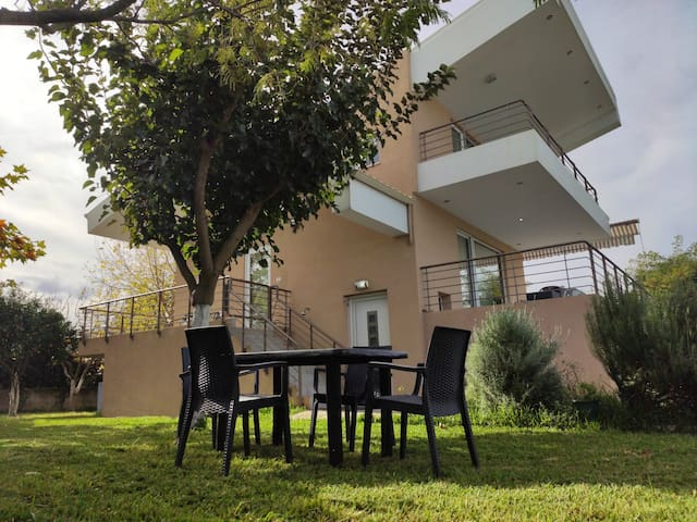 NZEB Private villa in nature, BBQ 300m from beach