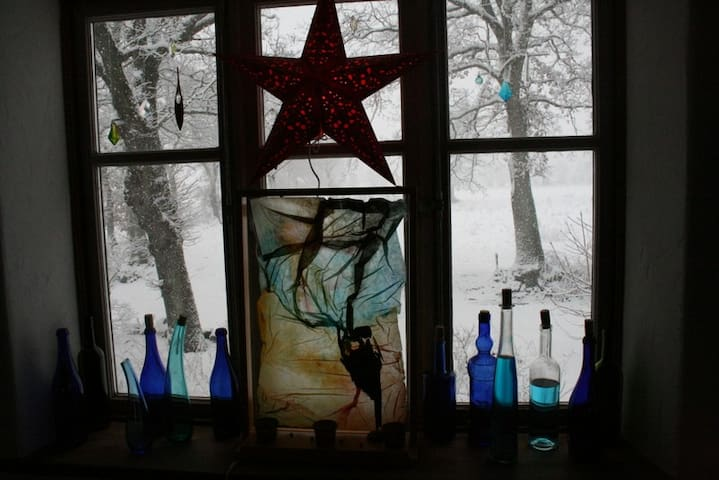 Der Winter am Fenster ...