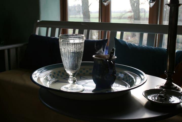 Gemütlichkeit bei heissem Tee ...