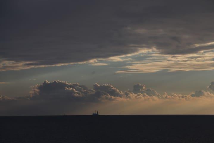 das Spiel der Wolken ...