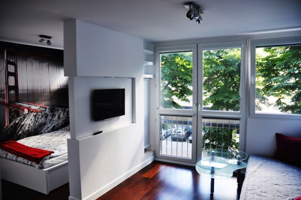rotating  wall with TV