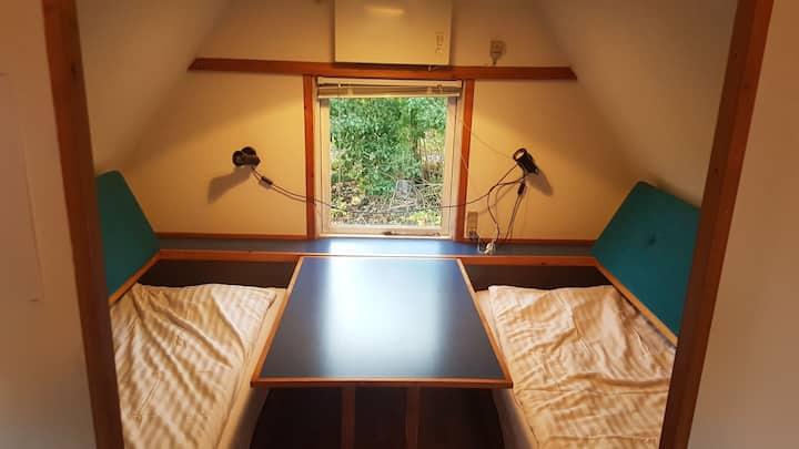 3 personers hytte på campingpladsen