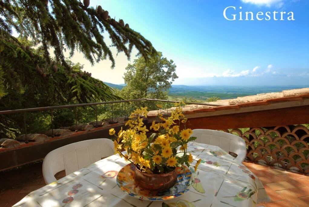 Romantica terrazza panoramica