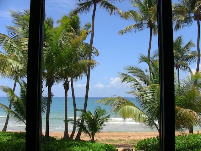 Beach view from living room