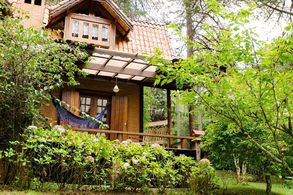 Chalé cottage Varanda