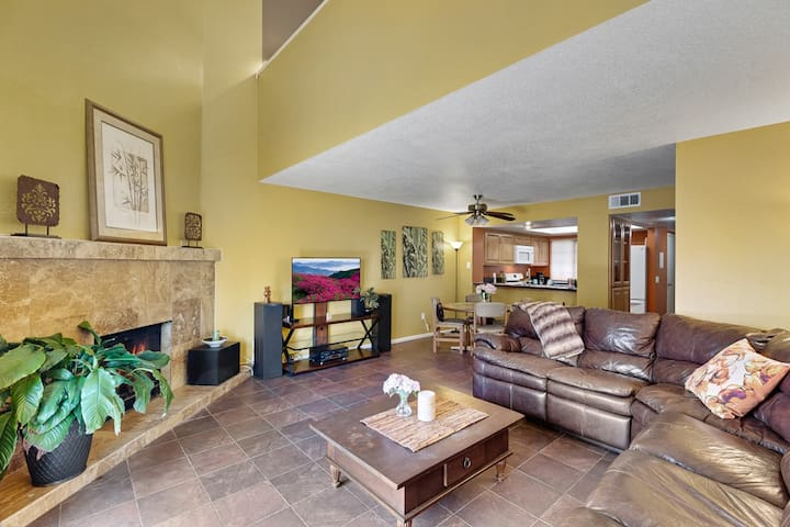 Private, open, spacious townhome