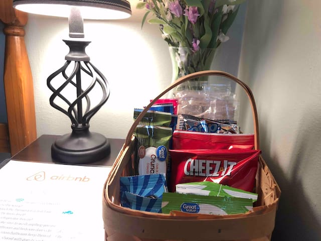 Jam-packed and yummy snack basket!!