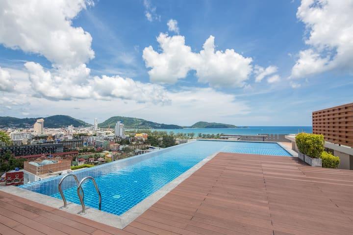 Красивые апартаменты с видом на море @Патонг -500м