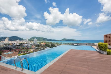 Nice Seaview 1 Bedroom Apartment@Patong beach-500m