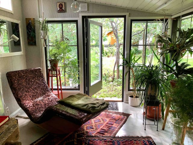 "A house like a poem: "" Come into the garden Maud."""
