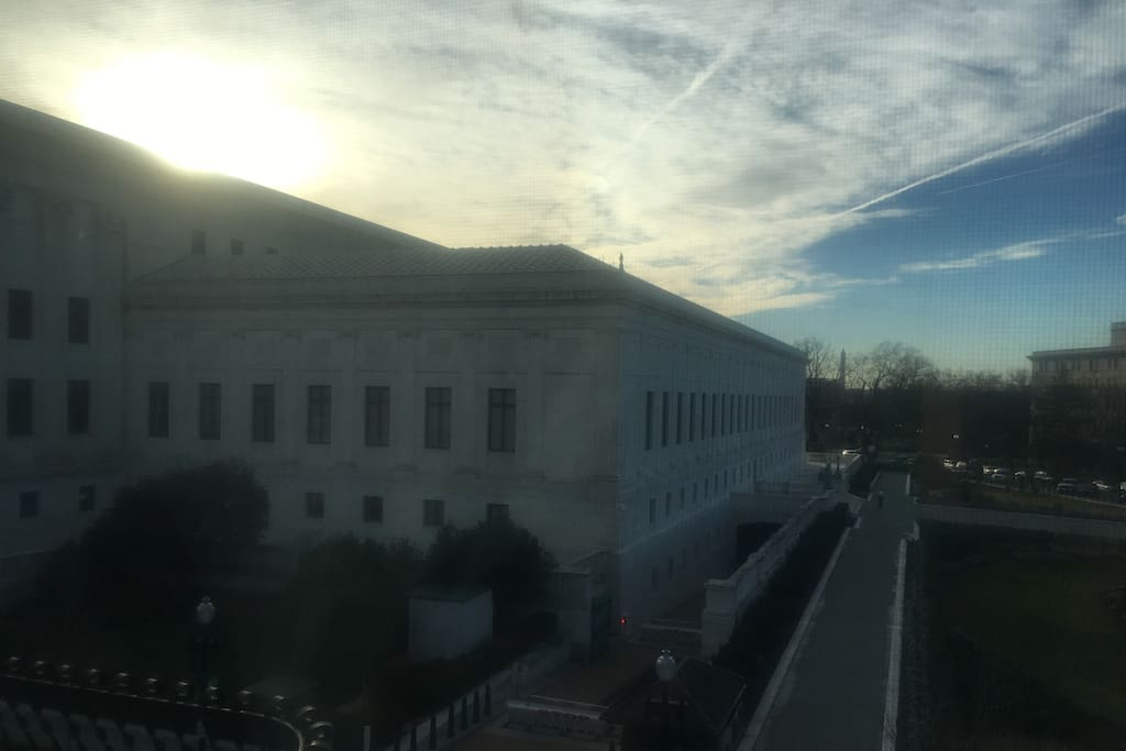 View of Supreme Court and Washington Monument from Breakfast Nook