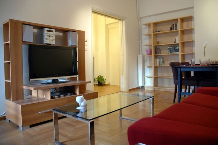 75m2, 2-br, metro, wi-fi, cable TV - Ateny - Apartament