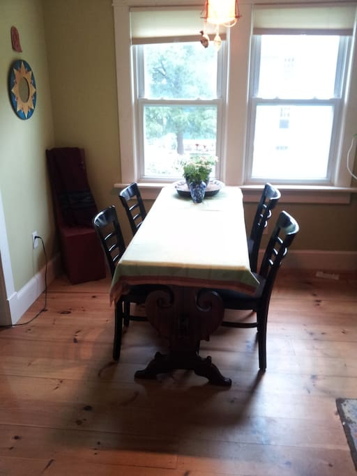 The center of our home, our dining room
