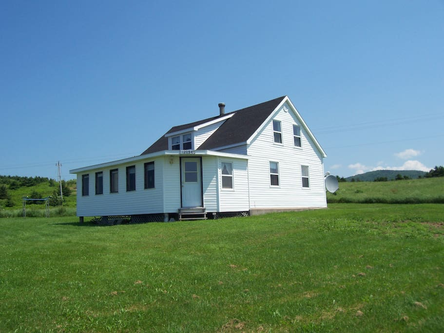 View of house traveling north.