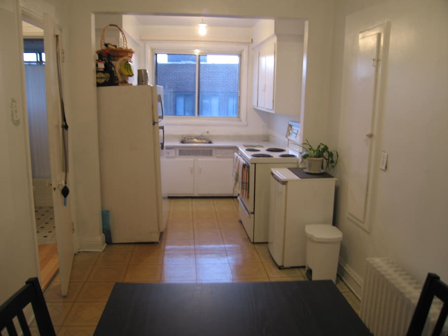 fully furnished kitchen + dining room