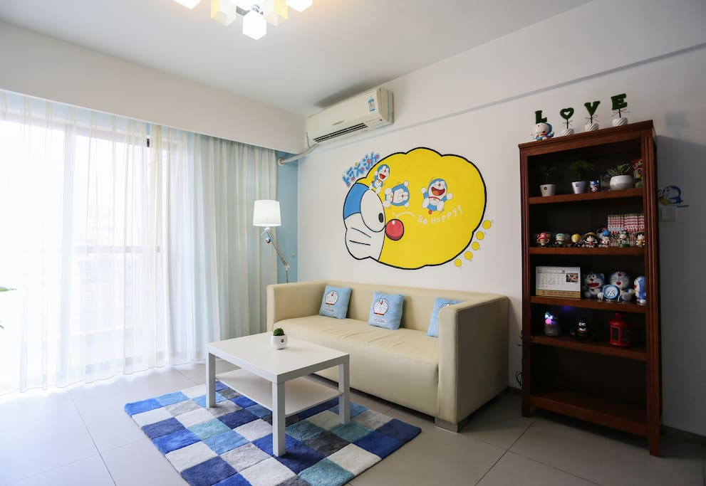 doraemon theme 2 rooms apt zhujiang new town