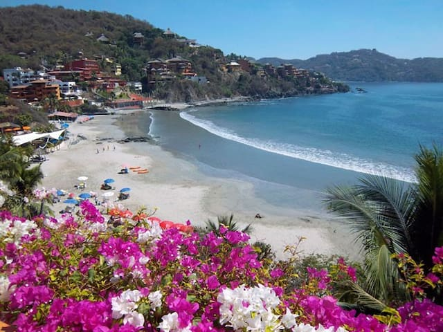 beach front room 2 beds ac kitchen - Zihuatanejo - Apartamento