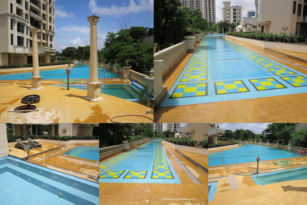 swimming pool collage